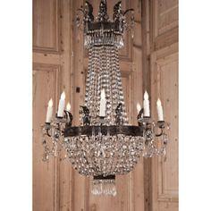 Antique Italian Sack of Pearls Chandelier      Antique Lighting    Antique Chandeliers   #antique #vintage #chandelier