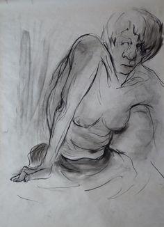 Charcoal and pencil on Paper-100*70 cm- By Elaheh Riyazat