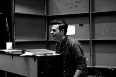 #Composer #JoeIconis rehearses with the cast of #BeMoreChill the #Musical