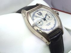 Mens Cartier Tortue Monopoussoir Single Button Chronograph Watch 18k White Gold Click to find out more -  http://menswomenswatches.com/mens-cartier-tortue-monopoussoir-single-button-chronograph-watch-18k-white-gold/