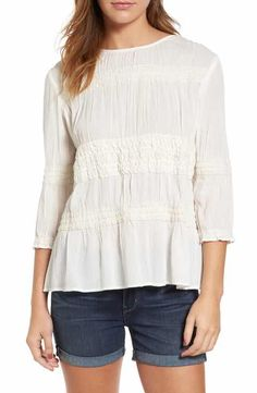 Hinge Shirred Crepe Top