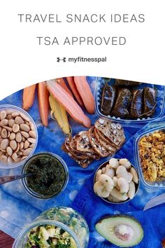 We all know airport and airline food just isn't good. Here are some healthy snack ideas for travel snacks. Whether we fail to pack healthy snacks because we forget, or because our pantries are without deliciousness, the following strategies and snack ideas ensure you have solid TSA-approved quick snacks on hand. Here are our best strategies and on-the-go snack hacks. #myfitnesspal #onthegosnacks #healthysnacks #snackideas #travelsnacks #roadtripsnacks #quickandeasysnacks