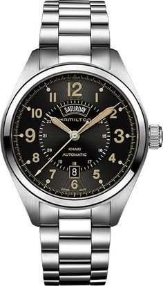 Hamilton Watch Khaki Field Day Date Auto #bezel-fixed #bracelet-strap-steel #brand-hamilton #case-depth-11-2mm #case-material-steel #case-width-42mm #date-yes #day-yes #delivery-timescale-call-us #dial-colour-black #gender-mens #luxury #movement-automatic #official-stockist-for-hamilton-watches #packaging-hamilton-watch-packaging #style-dress #subcat-khaki-field #supplier-model-no-h70505933 #warranty-hamilton-official-2-year-guarantee #water-resistant-50m