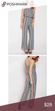 """Bohemian Flounce Jumpsuit Brand new without tag. Size XL. Bust approx 37"""" Inseam  approx 30"""". Adjustable straps. Rayon Rue 21 Pants Jumpsuits & Rompers"""