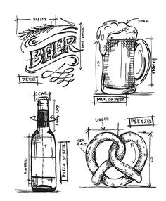 Say cheers to your next creative stamping project when you use the Beer Blueprint Cling Mounted Rubber Stamp Set by Tim Holtz for Stampers Anonymous. Foam Stamps, Tim Holtz Stamps, Stamp Storage, Stampers Anonymous, Beer Signs, Stickers, Digital Stamps, Scrapbooks, Coloring Pages