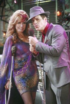"""Tracey E. Bregman plays feisty Lauren Fenmore Baldwin on TV's """"The Young and the Restless"""".  Here she is with Christian LeBlanc, who plays her husband Michael."""