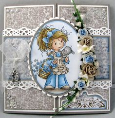 by Lena Katrine... pretty gate-fold card (change sentiment)