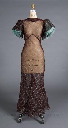Circa 1930s Vintage Dress.
