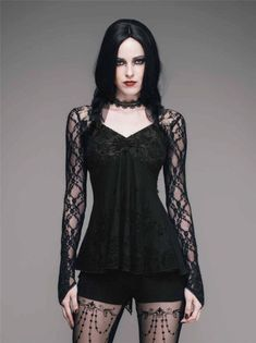 Alternative Fashion World | Shop: Gothic Lace Shirt, on Ebay. #shirt, #lace,...