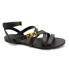 30% off black leather sandal by Tory Burch  The Porcupine  843-785-2779  The Village at Wexford E4