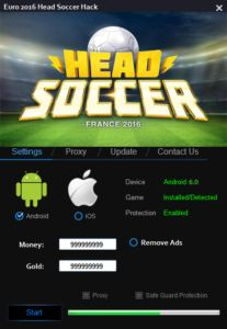 """Euro 2016 Head Soccer Hack This new hack for the game """"on time"""" or EURO! This game has gained rapidly in popularity hence our choice. This application has the ability to add us unlimited amounts of gold and money – yes, unlimited resources.   DOWNLOAD: http://mobile-games-hack.com/euro-2016-head-soccer-hack/"""