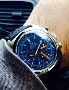Stunning Vintage Omega Seamaster Chronograph In Stainless Steel Circa 1970s #menswatchesomega