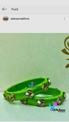 Silk Thread Bangles Design, Silk Thread Earrings, Thread Jewellery, Jewellery Making, Beaded Jewelry, Handmade Jewelry, Kundan Bangles, Silk Bangles, Diwali Diy