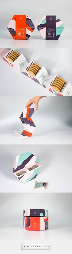 Saikai / Student Project / The idea was to create packaging and visual concept for Japanese senbei cookies and green tea on a Swedish market / design by Maja Ahlund, Alma Lindström, Hanna Simu and Emma Waleij