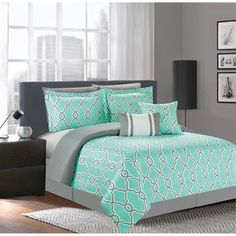 Decorative pillows bedroom diy projects decorative pillows orange e Dream Bedroom, Decor, Bedroom Makeover, Comforter Sets, Teal Bedroom, Room Makeover, Home, Bedroom Design, New Room