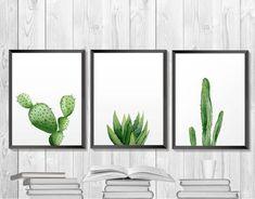 Impresión de la planta verde. Cactus para imprimir. por ArtbyASolo