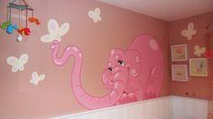 aliciaborges ¿Dónde está mi elefante?: Murales Infantiles