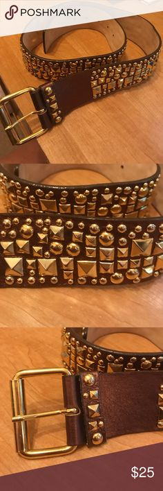 Streets Ahead Leather Studded Belt Streets Ahead Leather studded belt handcrafted in California. Size M Streets Ahead Accessories Belts