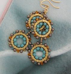 Delicious Dangle Earrings In Brown Topaz and by cathycortezstudio, $58.00