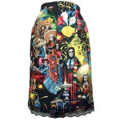 """Women's """"Fiesta de San Marcos"""" Pencil Skirt by Hemet  XS through 2XL  20% off today"""