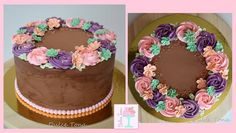 Floral wreath buttercream cake Tarta floral