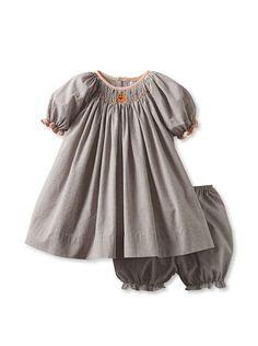 Bebe Mignon Baby Dress with Bloomer - Pumpkins at MYHABIT