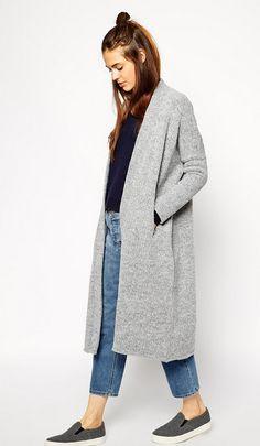 Inverno casual - mantê, jeans e tênis
