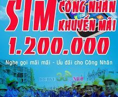 Ưu đãi hấp dẫn với bộ sim công nhân Vinaphone | Đăng ký dịch vụ 3G Mobifone, Vinaphone, Viettel