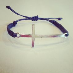 Silver cross bracelet by AroundMyWrist on Etsy, Guitron Ruiz Cross Bracelets, Cross Jewelry, Jewelry Accessories, Unique Jewelry, Religious Jewelry, Jewelry Branding, Making Ideas, Jewerly, Amanda