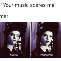 Hahaha my boss everytime I play some of my music in the office... His words idk if he's yelling at me but it's scaring me...  #music #heavymetal #heavymetalmusic #allthatremains #fivefingerdeathpunch #bullettomyvalentine #breakingbenjamin #slipknot #musicislife
