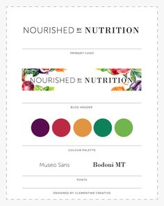 Logo design and blog header for Nourished by Nutrition | by Clementine Creative
