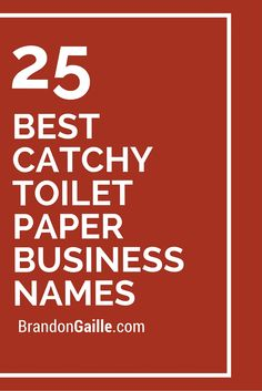 25 Best Catchy Toilet Paper Business Names