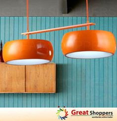 New Modern Red Orange White Twin Color Shade Ceiling Light Pendant Lamp Fixture | eBay