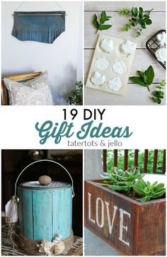 Sometimes it's hard to shop for gifts for your loved ones! Homemade gifts are a lot more personalized and customizable! Here are 19 DIY Gift Ideas!