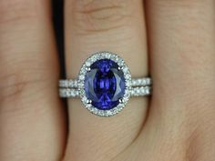 This engagement ring is designed for those who love simple with a slight twist. This is a great way to stay away from the traditional round in a round