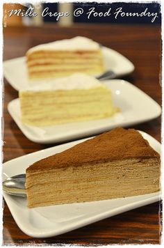 A neighbourhood bistro with a very homely environment, tucked under the Happy Mansion flats. Famous for their pastas, sandwiches and the signature Mille Crepes; Crepe Cake, Ipoh, Crepe Recipes, Mille Crepe, Crepes, Asian Recipes, Vanilla Cake, Mansion, Sandwiches