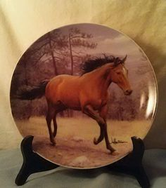 "Hautman Brothers Tone World 2001 8 1/4"" Collector's Plate Horses (Signed) in Collectibles, Decorative Collectibles, Collector Plates 