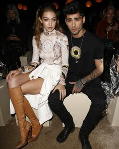Zayn Malik and Gigi Hadid attend the Givenchy show as part of the Paris Fashion Week Womenswear Spring/Summer 2017 on October 2, 2016 in Paris, France.