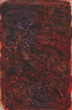 Judy Millar, Untitled, oil and acrylic on paper, 1020 x Proof Of Heaven, Oil, Abstract, Gallery, Paper, Artist, Painting, Color Red, Colors