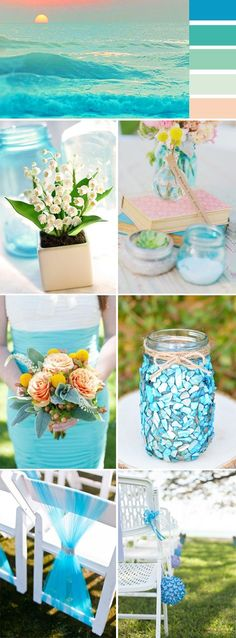 Encouraged to my website, in this moment I'll show you concerning Turquoise Beach Wedding Mason diy mason jar Wedding Motif Color, Romantic Wedding Colors, Wedding Motifs, Beach Wedding Reception, Diy Wedding, Dream Wedding, Wedding Ideas, Blue Wedding, 2017 Wedding
