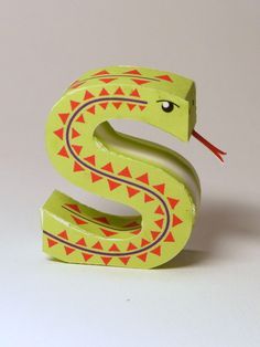 printable 3D letters of the alphabet