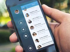 Dribbble - Spotlinks - iOS7 iPhone Sidebar by Stan Mayorov
