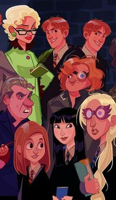 If Harry Potter was entitled to his animated series - The artist Stephen Byrne Harry Potter World, Mundo Harry Potter, Harry Potter Facts, Harry Potter Fan Art, Harry Potter Characters, Harry Potter Universal, Harry Potter Fandom, Illustrations Harry Potter, Harry Potter Drawings