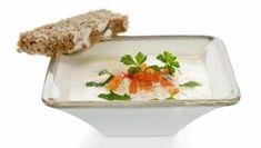 Cauliflower Soup // 235 Cal per serve Cauliflower Soup, Frisk, Pudding, Diet, Desserts, Healthy Dinners, Food, Skinny, Cilantro