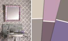 Couleurs de peinture salle de bains sur pinterest for Peinture argentee murale