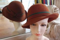 Vintage Reddish Brown Hat NOS New Old Stock Adolfo II NWT
