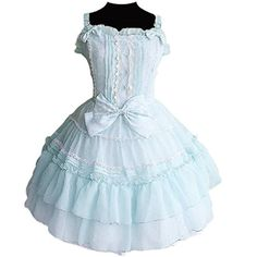 Partiss Women's Straps Bows Lace Polyester Lolita Dress X... http://www.amazon.com/dp/B01D4LDMYM/ref=cm_sw_r_pi_dp_eINpxb0C10EQV