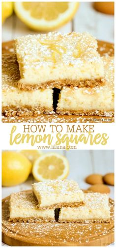 Lemon Squares Delicious Creamy Lemon Squares with a Vanilla Wafer Crust and irresistible taste! Vanilla Wafer Dessert, Vanilla Wafer Recipe, Vanilla Wafer Crust, Lemon Dessert Recipes, Cake Recipes, Yummy Recipes, Yummy Food, Easy Lemon Curd, Blackberry Recipes
