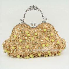 T2206x CLUTCH BEADED EVENING BAG HANDBAG GOLD   eBay