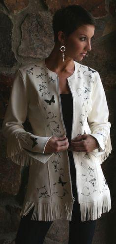 Cowgirl Fashion :: Jackets and Blazers :: MEREDITH LOCKHART CUSTOM DEERSKIN FRINGE JACKET! - Native American Jewelry Ladies Western Wear Dou...